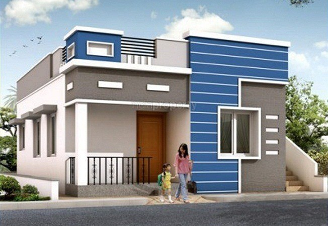 Single House Front Elevation Models : Low cost sq ft kerala single storied homes home