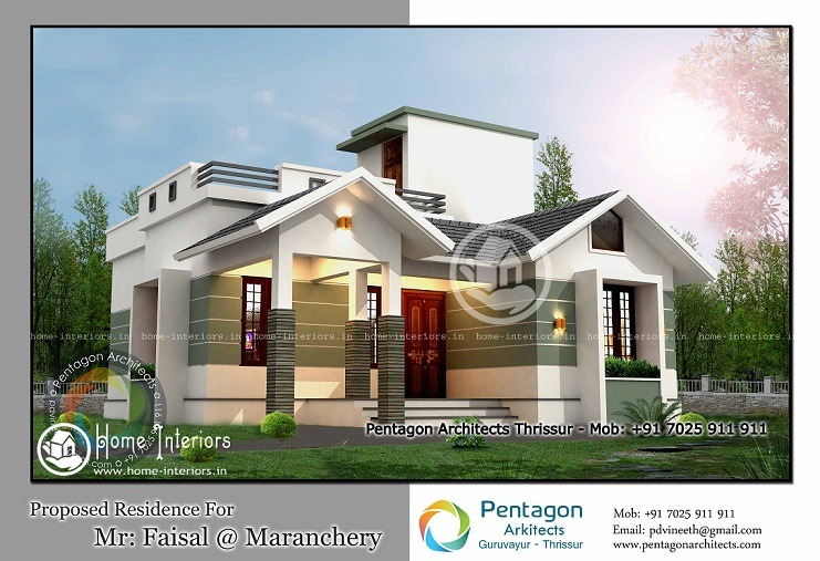 Beautiful traditional home interiors - 1206 Sq Ft Modern Traditional 2 Bhk Home Design Home Interiors