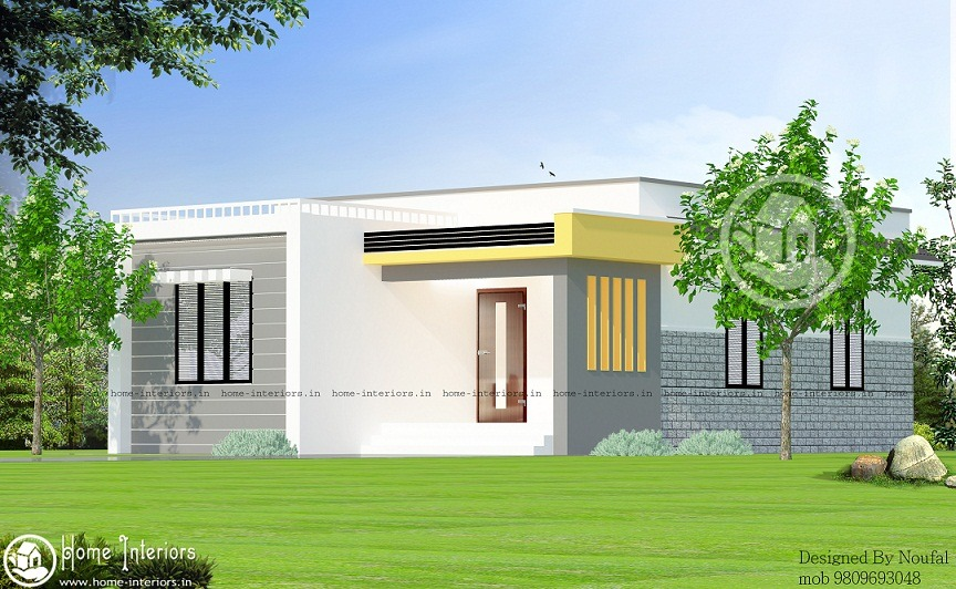 740 sq ft single floor kerala home low cost design home for Low cost house plans with photos in kerala