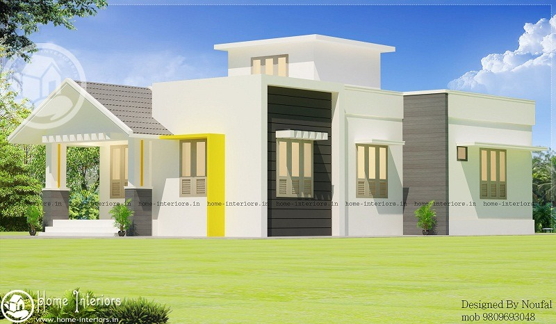 3bhk Contemporary Home Part - 45: 980 Sq Ft Low Cost Contemporary 3 BHK Home Design
