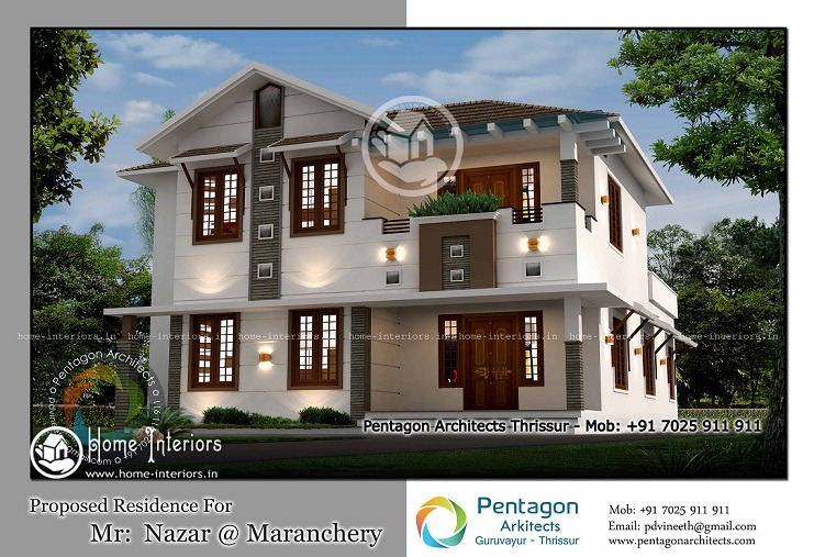2075 Sq Ft Modern Traditional 4 BHK Home Design