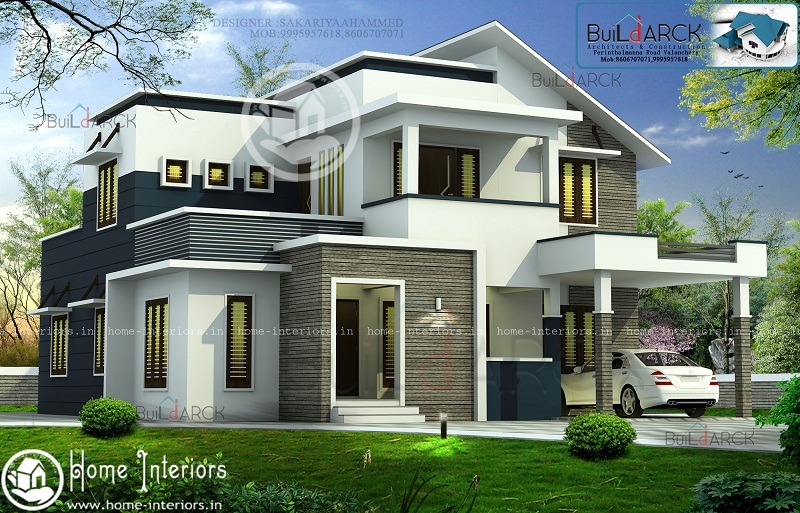2422 Sq Ft Double Floor Contemporary Home Design - Home-Interiors