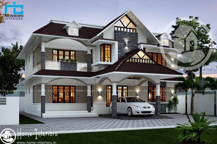 Fascinating 3000 sq ft colonial home design home interiors for 3000 sq ft house plans kerala style