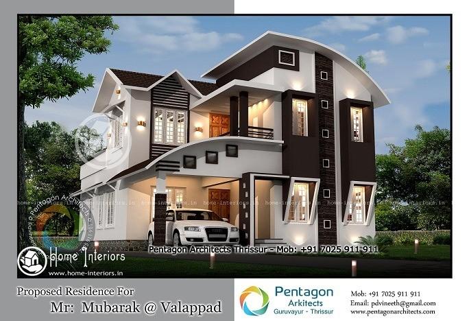 1955 sq ft marvellous double floor home design - 1955 Home Design