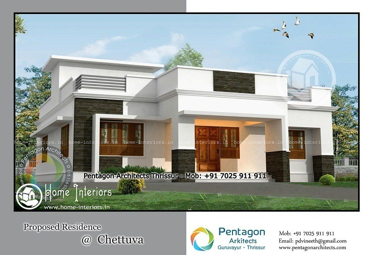 2050 sq ft contemporary kerala home design home interiors for Modern kerala style house plans with photos
