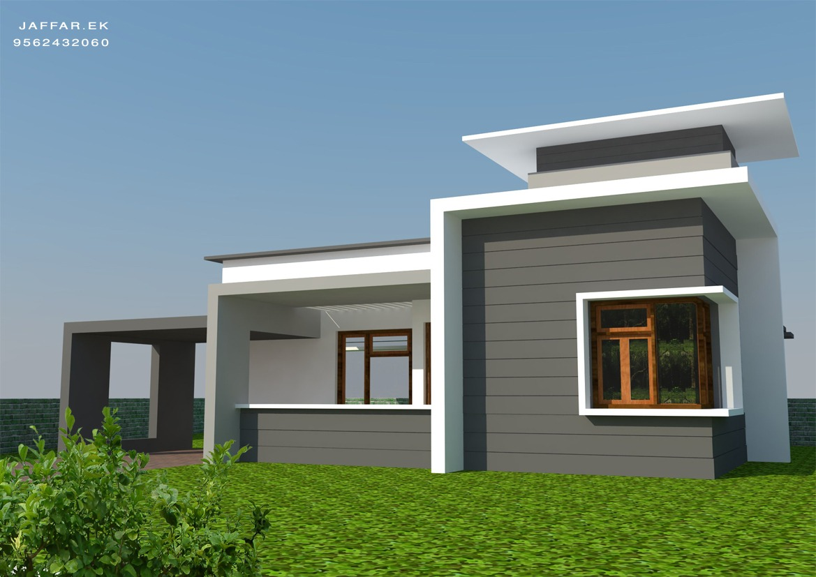 Home designs single floor plan square feet kerala design modern contemporary single floor - Design of home ...