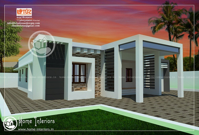 1200 sq ft single floor contemporary home designs home for Kerala home plans 1200 sq ft
