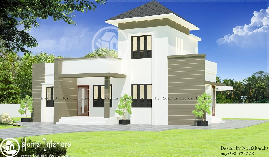 1320 Sq Ft Single Storied Contemporary Home Design - Home-Interiors