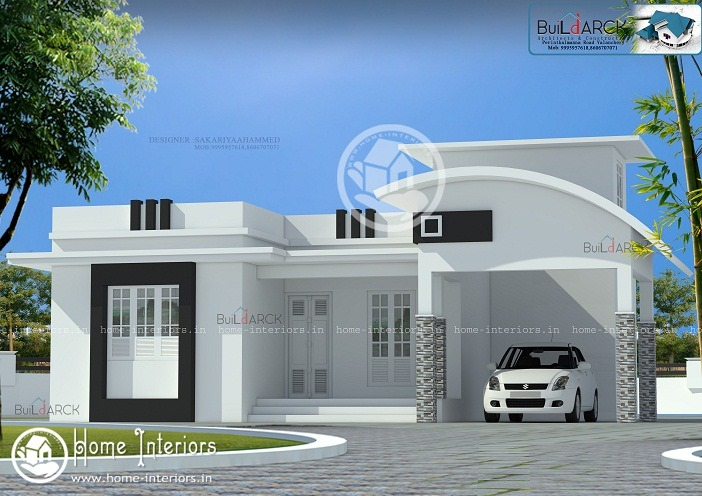 1323 Sq Ft Single Floor Contemporary Home Design - Home-Interiors