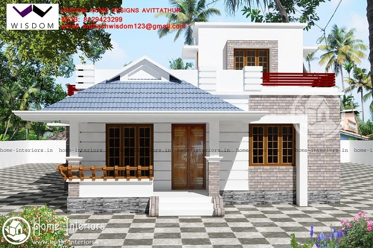 1390 Sq Ft Single Floor Contemporary Home Design - Home-Interiors