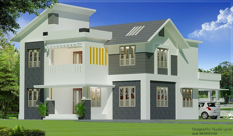 1800 sq ft 4 bhk contemporary home design home interiors for Amazing modern houses kerala