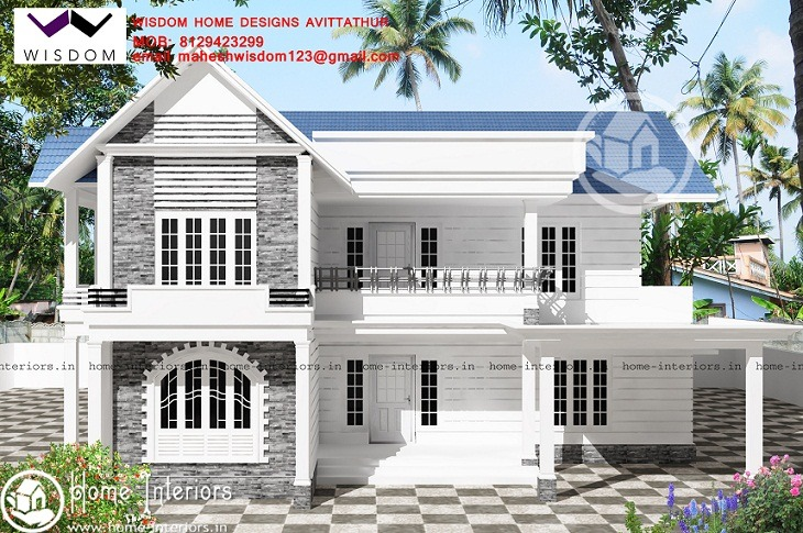 2086 Sq Ft Double Floor Contemporary Home Design - Home-Interiors