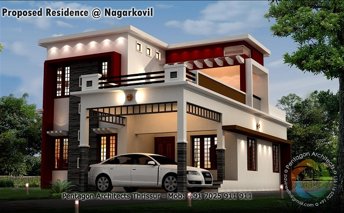 2210 Sq Ft Contemporary Double Floor Home Design