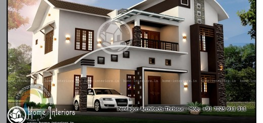 2379 sq ft modern double floor home designs kerala