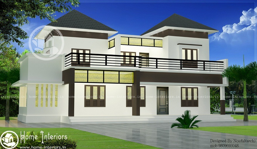 2600 sq ft double storied contemporary home design home