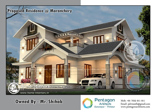 2700 sq ft double floor modern stylish home design - Stylish Home Designs