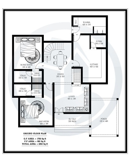 2700 sq ft double floor modern stylish home design home Home layout planner