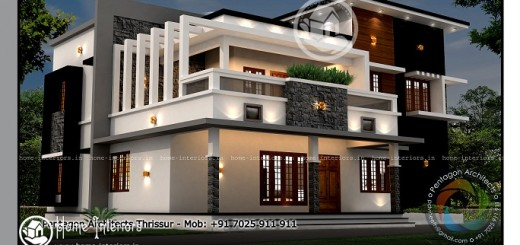 Square Feet Double Floor Contemporary Home Design Resolution