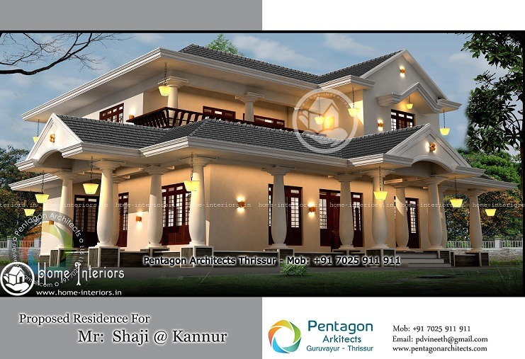 Good Single Family Home Plans #6: 3095 Sq Ft Amazing And Beautiful Kerala  Home Designs