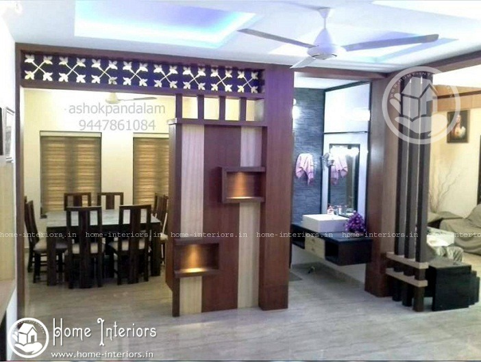 3850 sq ft double floor contemporary home design home for Dining room designs kerala