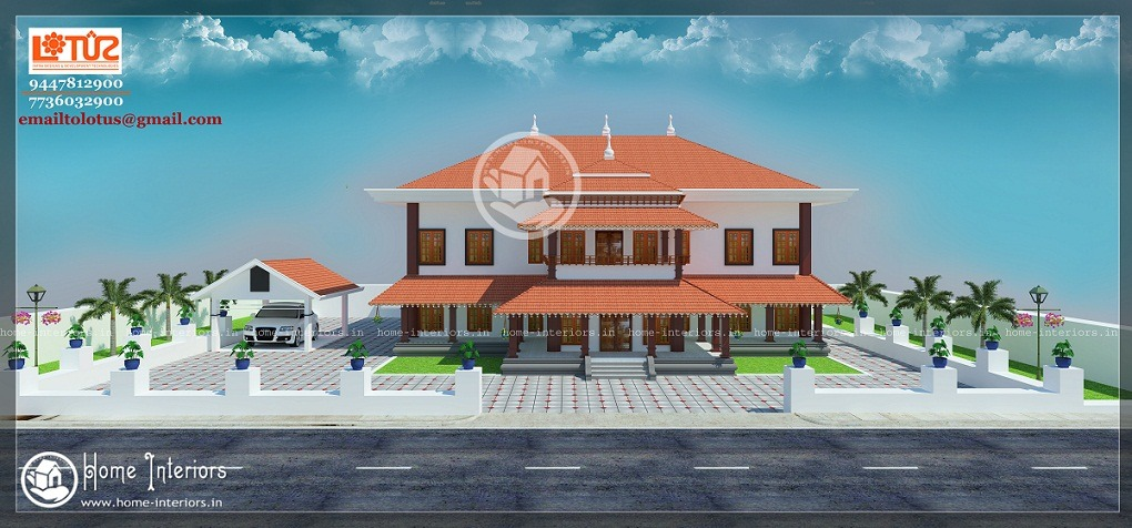 4500 Sq Ft Double Floor Traditional Home Design