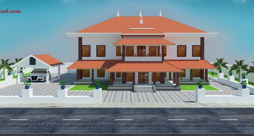 4500 Sq Ft Double Floor Traditional Home Design Home