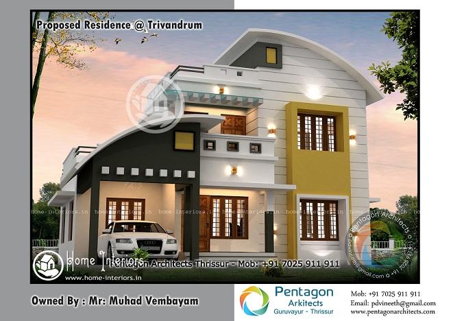 1681 sq ft contemporary 4 bhk home design home interiors for 4 bhk home design