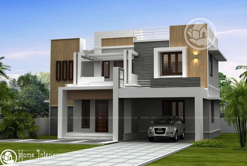 2600 sq ft double floor contemporary home design home for 2600 sq ft house cost