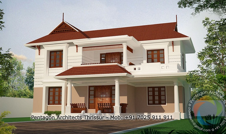 Kerala home design facebook 2421 sq ft double floor for Home architecture facebook