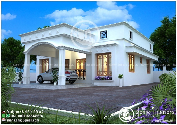 Single Home Designs Mesmerizing 900 Sq Ft Single Floor Modern Villa Home Design  Homeinteriors Review