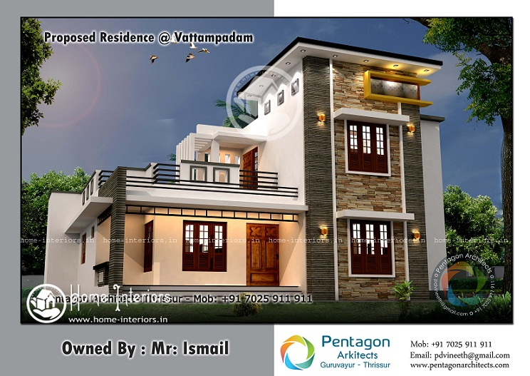 1950 Sq Ft Contemporary Double Floor Home Designs