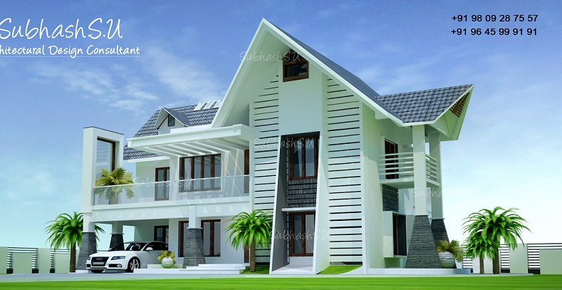 2200 Sq Ft Contemporary Double Floor Home Designs