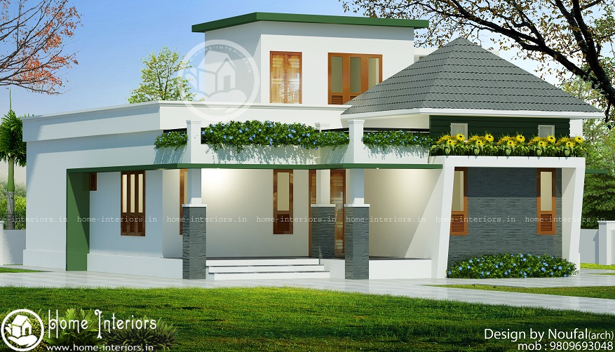 740 sq ft single floor contemporary home designs for Modern kerala style house plans with photos
