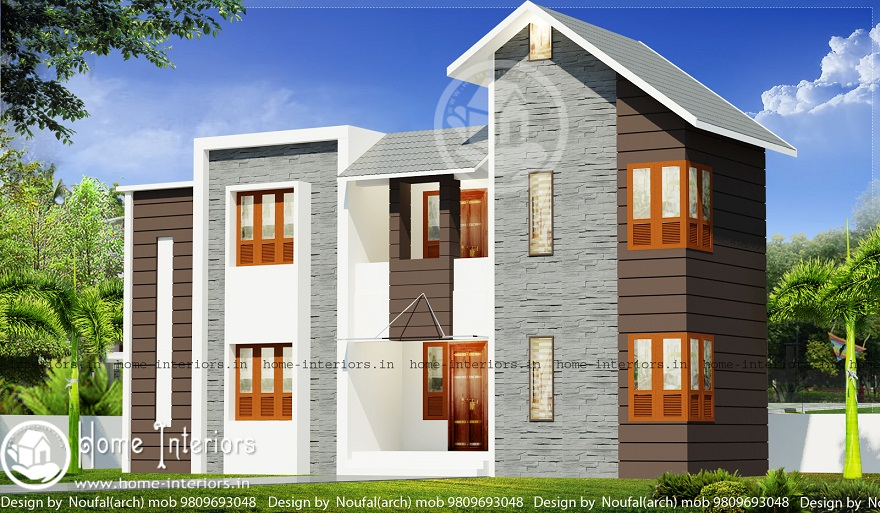 1500 sq ft contemporary 4 bhk double floor home design for 1500 sq ft modern house
