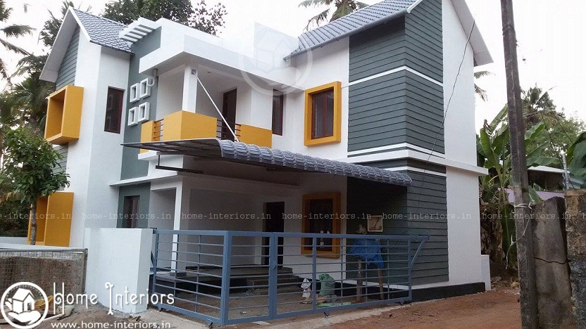 1600 sq ft 3 bhk contemporary home design renovation project Old home renovation in kerala