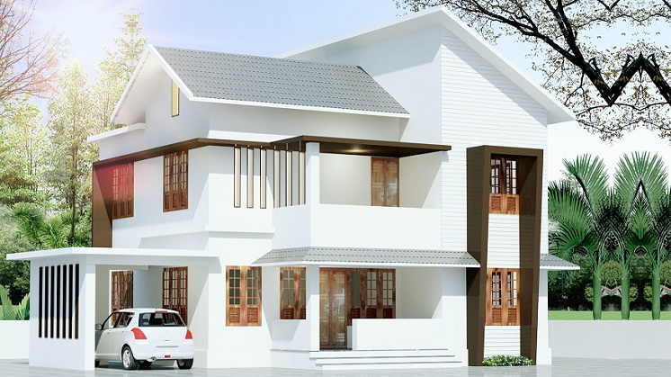 1700 sq ft contemporary double floor 4 bhk home design for Modern house plans 1700 square feet