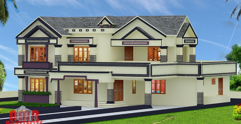 3465 Sq Ft Double Floor Contemporary Home Designs