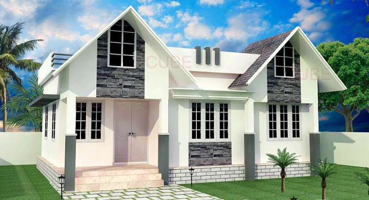 650 sq ft contemporary single floor home design for 650 sq ft house