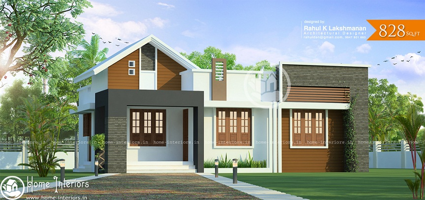 Contemporary House Elevation Single Floor: Single Floor Contemporary House Plans In Kerala