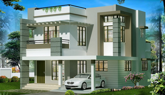 2050 Sq Ft Double Floor Contemporary Home Design