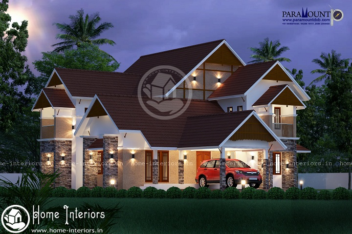 2477 sq ft double floor european style home design