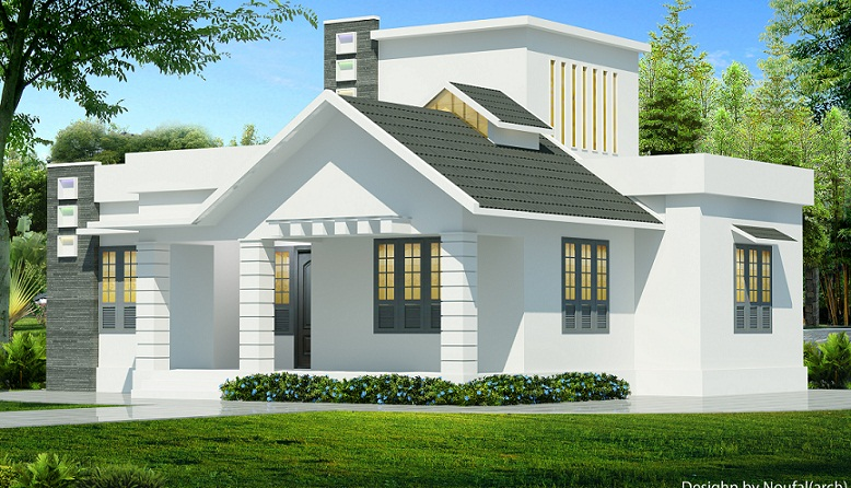 850 sq ft contemporary single floor home design for Sq 850