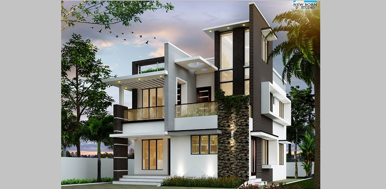 1600 sq ft double floor box type home designs for 1600 sft apartment design