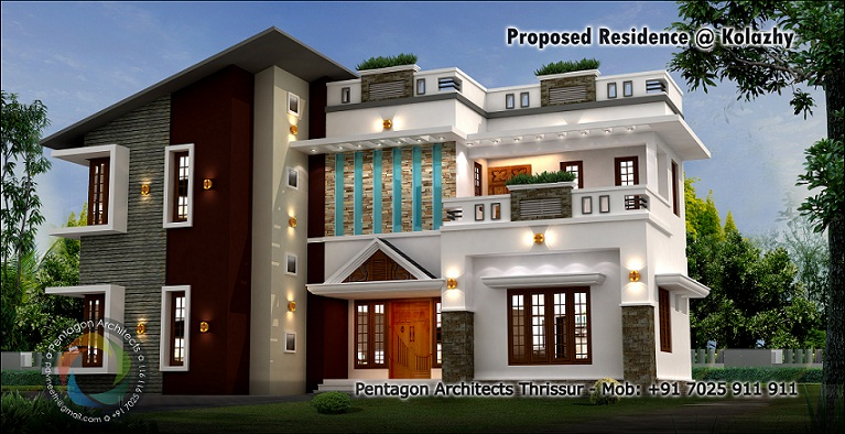 Kerala home design facebook 2339 sq ft double floor for Home architecture facebook