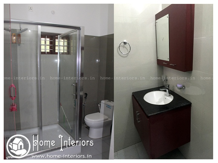 2350 sq ft double floor contemporary home interior designs for Bathroom interior design kerala