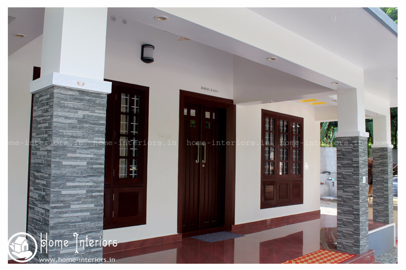 2350 sq ft double floor contemporary home interior designs for House interior design kerala photos
