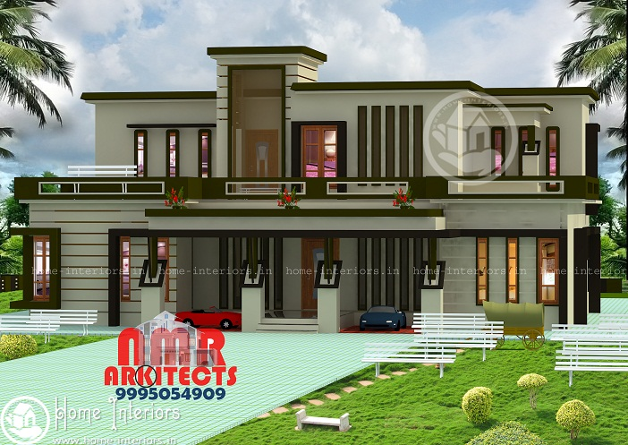 2600 Sq Ft Double Floor Contemporary Home Designs