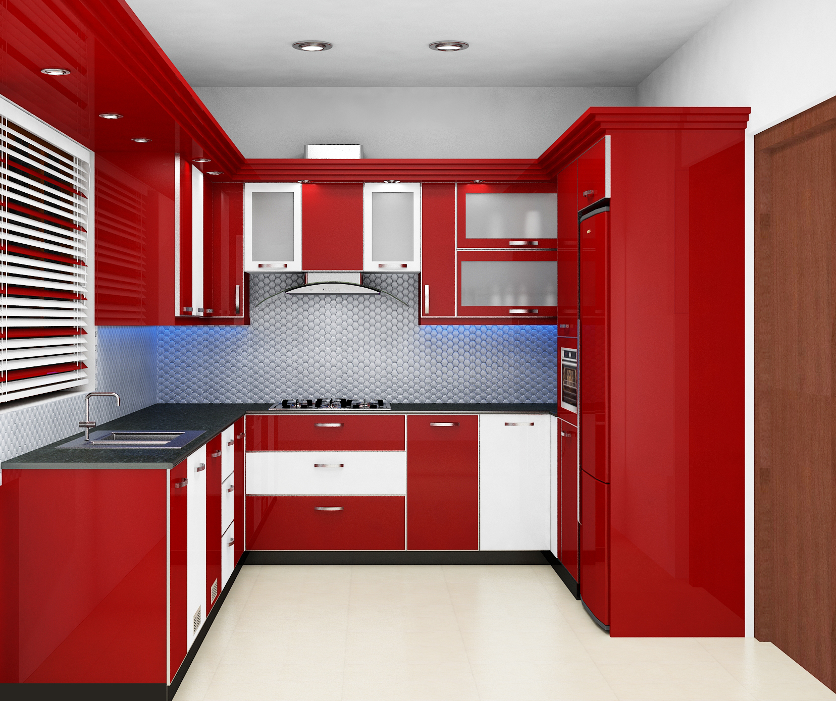 Exemplary and amazing modular kitchen home interior design for 1 room kitchen interior design