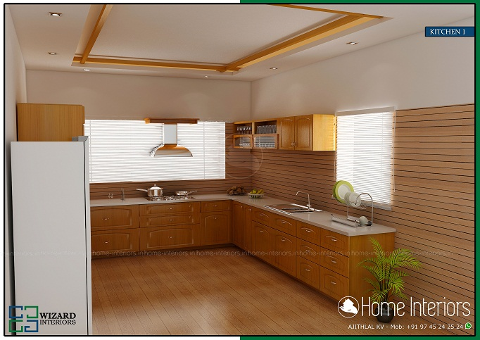 Outstanding contemporary home kitchen interior designs for Kerala style kitchen interior designs