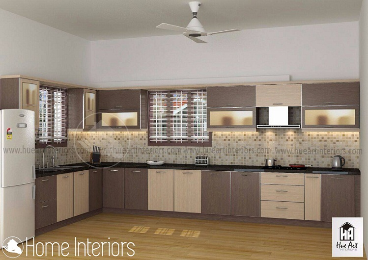 Amazing contemporary home modular kitchen interior designs for Interior design ideas for small homes in kerala